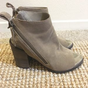 Dolce Vita Pierce Suede Open Toe Booties